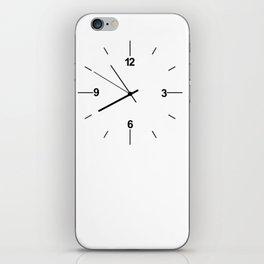 Wall clock background iPhone Skin