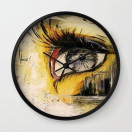 city eye Wall Clock
