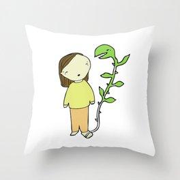 La planta del pie Throw Pillow