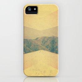 patterned hillside iPhone Case