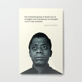 James Baldwin Print  Metal Print