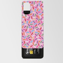 Pink Donut with Sprinkles Android Card Case