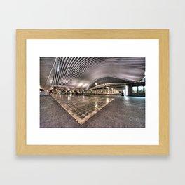 Liege station by Night  Framed Art Print