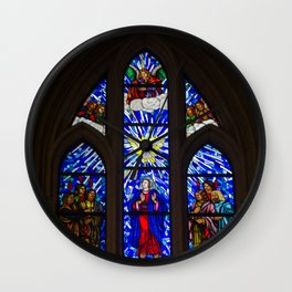 Stained Glass of the Royal Cathedral, Madrid Wall Clock