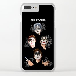 The Doctor who face painting iPhone 4 4s 5 5c 6 7, pillow case, mugs and tshirt Clear iPhone Case