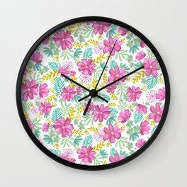 Emila Watercolor Florals Wall Clock