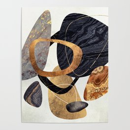 Abstract Pebbles III Poster