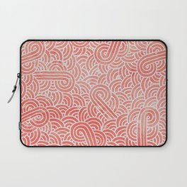 Peach echo and white swirls doodles Laptop Sleeve