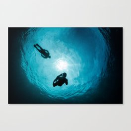 Snorkelers in Snell's Window Canvas Print