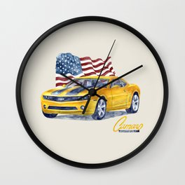 camaro Wall Clock