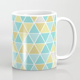 Triangulation (blue and green) Coffee Mug