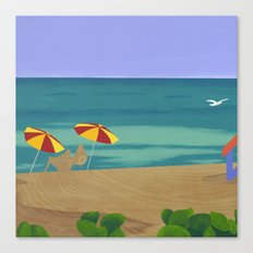 South Beach Pillow 2 Canvas Print