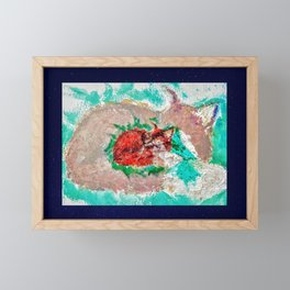 """Kat's Fox from the series """"A Country Lady"""" Framed Mini Art Print"""