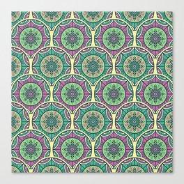 Mosaico Purple Teal Canvas Print