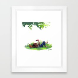Weekend Goals Framed Art Print