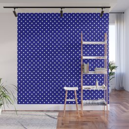 Blue and White Stars Wall Mural