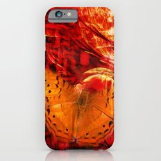 Butterfly in red universe iPhone 6s Slim Case