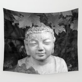 Buddha black and white photo, photographed village in Oberaudorf (Bavaria), 2013 Wall Tapestry
