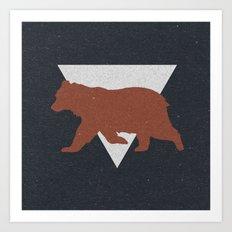 Bear & Bravery Art Print