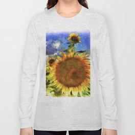 Sunflowers Vincent Van Goth Art Long Sleeve T-shirt
