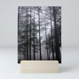 Mist Fog Ponderosa Pine Trees Mini Art Print