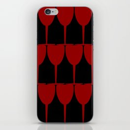Vino - Red on Black iPhone Skin