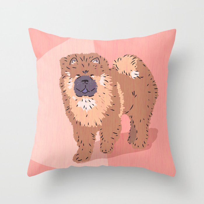 City Dogs: Chow Chow Throw Pillow