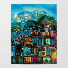 Favela Hillside, Rio de Janeiro by Emiliano di Cavalcanti Poster