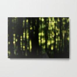Bamboo Bokeh Metal Print