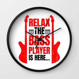 Relax The Bass Player Is Here | Music Instrument Wall Clock