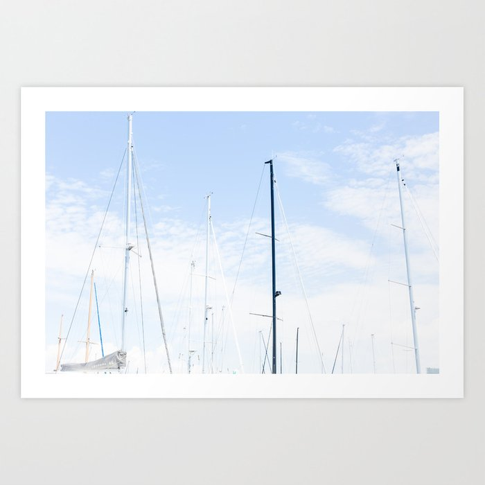 Charleston sailboats Art Print