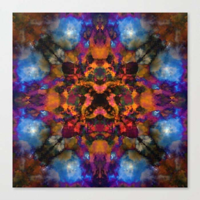 Psychedelic kaleidoscope cloud pattern Canvas Print