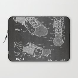 Soccer Boots Patent - Football Boots Art - Black Chalkboard Laptop Sleeve