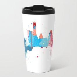 Austin Cityscape Watercolor Travel Mug