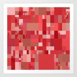 light red mosaic Art Print