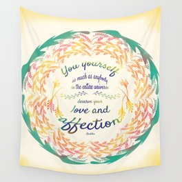 Buddha Quote Wall Tapestry