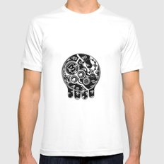 Time Bomb (Inverted) Mens Fitted Tee White MEDIUM