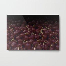 cherries pattern hvhdfn Metal Print