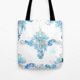 Aqua Chalcedony Tote Bag