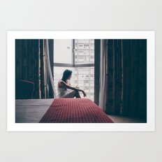 living in a hotel room Art Print