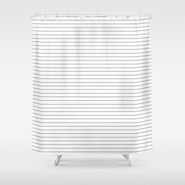 Simple Black and White Stripes Shower Curtain