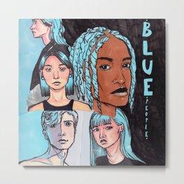 Blue people (Composition 4) Metal Print