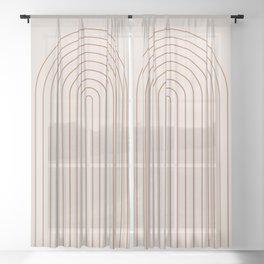 Minimalist Arch XVI Sheer Curtain