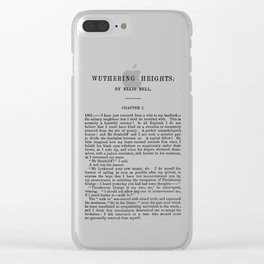 Wuthering Heights Emily Bronte First Page Clear iPhone Case