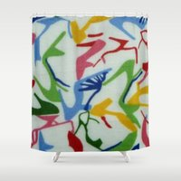heels Shower Curtains featuring HEAD OVER HEELS by BellagioVista