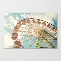 ferris wheel Canvas Prints featuring ferris wheel by Sylvia Cook Photography