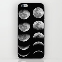 Phases (black) iPhone Skin