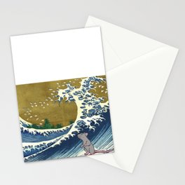 Rat Surfing Stationery Cards