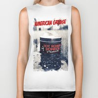 grease Biker Tanks featuring American grease by Vorona Photography
