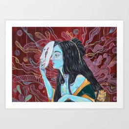 Dama Enmascarada Art Print